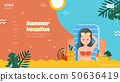 Summer vacation landing page layout 50636419