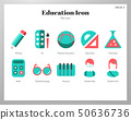 Education icons flat pack 50636736