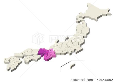 일본지도 긴키 지방 (Set 2) 50636802
