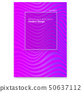Vector layout from lines. Wavy striped surface 50637112