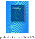 Vector layout from lines. Wavy striped surface 50637126