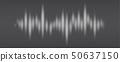 White halftone pattern, audio waveform. Modern 50637150