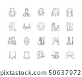 Aesthetic medicine line icons, signs, vector set, outline illustration concept  50637972