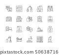 3d printing line icons, signs, vector set, outline illustration concept  50638716