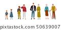 Couples of people. Children, kids, brother, sister, grandchildren, grandparents. 50639007