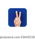 symbolic hand fingers gesture illustration. 50640538