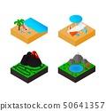 Travel isometric set icons. Vector illustration 50641357