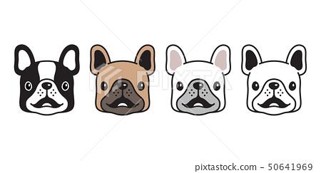 dog vector french bulldog icon logo smile cartoon  50641969