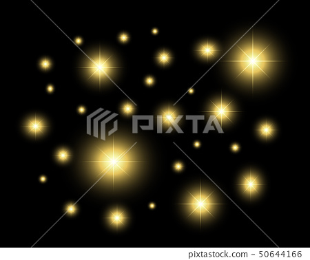 Glitter effect with black isolated background. 50644166