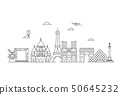 Paris vector skyline. 50645232