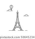 Eiffel tower illutsration 50645234