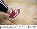 孩子們跳舞教室形象兒童的腳準備 50648199