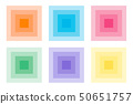 Various icons square tile gradient 50651757