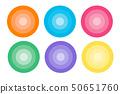 Various icons circle tile gradation 50651760