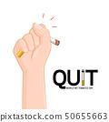 Human hand crushing cigarette. 50655663