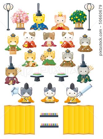 Hina doll shaped cat 50660679