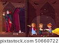 Children in quest escape room cartoon vector 50660722