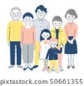 3 세대 가족 1 세트 핑크 50661355