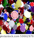Colorful casino poker chips flying 50662976