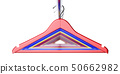 Colorful clothes hangers isolated 50662982