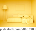 Monochrome yellow interior 50662983