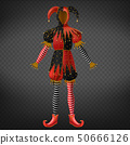 Joker or jester costume, playing card character 50666126