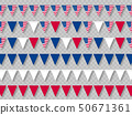Set of USA bunting flags in traditional colors. 50671361