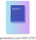 Vector layout from lines. Wavy striped surface 50671707