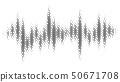Halftone pattern audio waveform. Sound wave 50671708