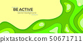 Dynamic papercut 3D background. Abstract multi 50671711