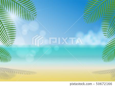Summer beach background 50672166