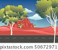 Red Australian desert 50672971