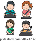 vector set of people use safety belt 50674232