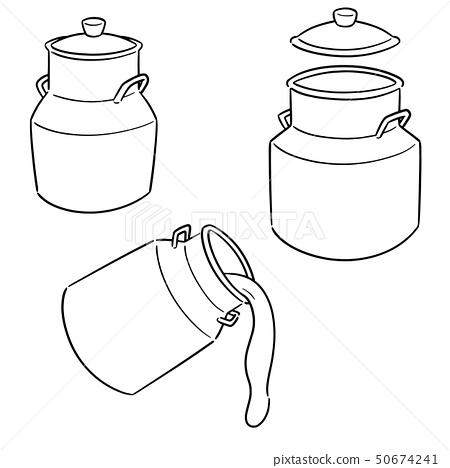 vector set of milk can 50674241
