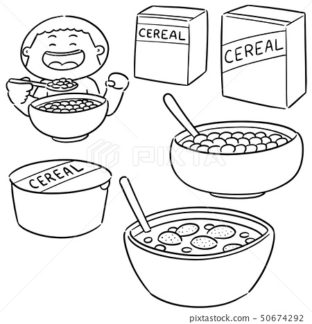 vector set of cereal 50674292