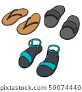 vector set of slippers 50674440