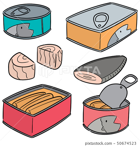 vector set of canned fish 50674523