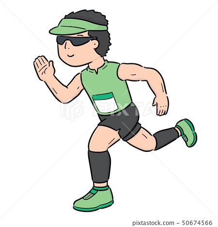 vector of man running 50674566