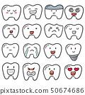 vector set of teeth 50674686