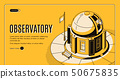 Astronomical observatory isometric vector website 50675835