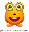 Cute little orange cartoon monster isolated 50676085