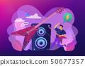 Rock music concept vector illustration. 50677357