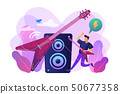 Rock music concept vector illustration. 50677358