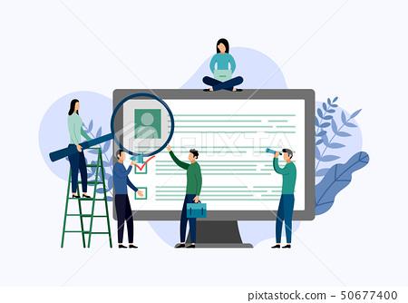 Job hiring and online recruitment, checklist 50677400