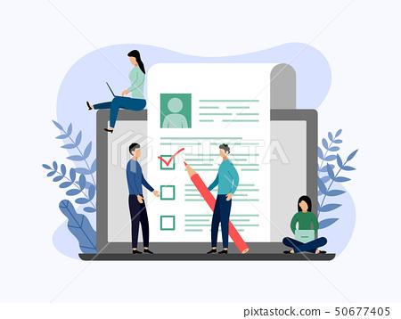 Job hiring and online recruitment, checklist 50677405