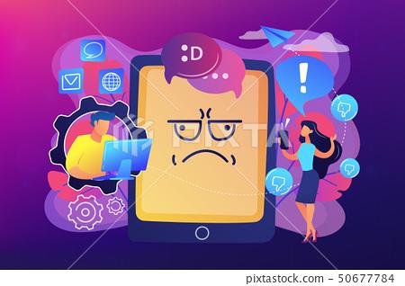 Internet trolling concept vector illustration. 50677784