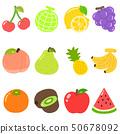 귀여운 과일 세트 개요 없음 50678092