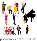 Set of musician characters. Vector illustration. 50678121