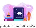 Buddhism concept vector illustration. 50678457