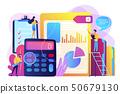 Audit service concept vector illustration. 50679130